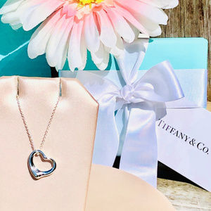 NWOT Tiffany & Co. Elsa Peretti Open Heart Pendant